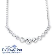 This white gold necklace from The Leo Diamond collection is the definition of elegance.