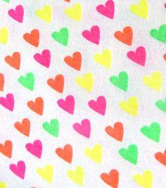 Fashion Flannel Hearts Neon