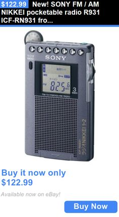 Portable AM FM Radios: New! Sony Fm / Am Nikkei Pocketable Radio R931 Icf-Rn931 From Japan New R241 BUY IT NOW ONLY: $122.99