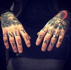 Matty's hand/finger tattoos are my favorite. Only (God's) Love Will Save