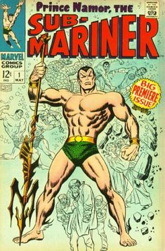 Namor's first Silver Age issue! Subby's life after the war, how the villain Destiny robbed him of his memory, how the other Human Torch (Johnny Storm of the FF) brought it back. History lesson courtesy of Roy Thomas; visual aids by John Buscema.