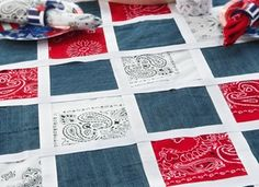 No-sew Bandana Denim Tablecloth from Crafts n Things