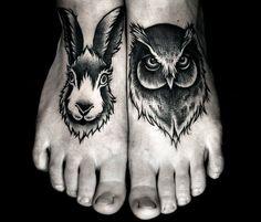 animal foot tattoo - Google Search