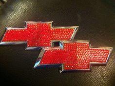 Custom Handmade CHEVY Emblems With 100 % Swarovski Crystals. $135.00, via Etsy.