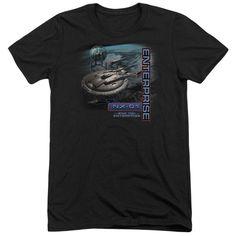 Star Trek Enterprise Nx 01 Adult Tri-Blend T-Shirt