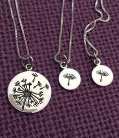 Hey, I found this really awesome Etsy listing at https://www.etsy.com/listing/460006750/dandelion-mother-daughter-necklace-wish