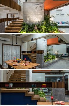 Ideas For Stairs Industrial Design Modern Staircase Indian Home Interior, Indian Home Decor, Home Interior Design, Interior Architecture, Modern Staircase, Staircase Design, Stairs In Living Room, Bungalow Interiors, House Front Design