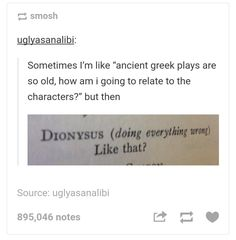 I studied these plays for a whole year, this is so true.