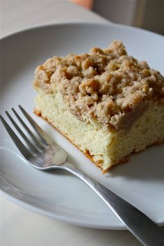 Old Fashioned Crumb Coffee Cake.  Just made this last night.  Very moist and yummy!  Next time I will use some type of caramel and on top.