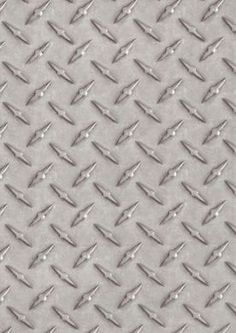 Diamond Plate Wallpaper ~ soo cool! Would be great to make a headboard with!