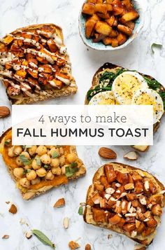 We're loving these HEALTHY Breakfast Toasts! With four different flavors that are perfect for fall there's something for everyone! Plus these recipes take less than 5 minutes to make are packed with protein and taste amazing! Fall Breakfast, Breakfast Toast, Savory Breakfast, How To Make Breakfast, Breakfast Recipes, Breakfast Ideas, Quinoa Breakfast, Clean Eating Recipes, Clean Eating Snacks