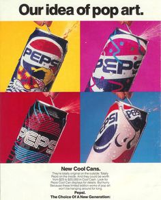 Some of my favorite graphics on cans ever: Pepsi Cool Cans, Summer 1990