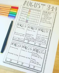 Habit tracker, daily & weekly spread all in one Bullet Journal 2019, Bullet Journal Notebook, Bullet Journal Spread, Bullet Journal Layout, Bullet Journal Ideas Pages, Bullet Journal Inspiration, Bujo, Bullet Journel, E Design