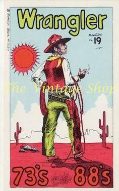 Wrangler Cowboy  .. Runnin Bare QSL Radio Trade Card 1037.