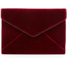 Rebecca Minkoff Leo Velvet Envelope Clutch Bag (£77) ❤ liked on Polyvore featuring bags, handbags, clutches, soft berry, envelope clutch, flap purse, rebecca minkoff handbags, velvet clutches and velvet purse