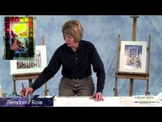 Watercolor Techniques with Judy Rider - Painting a White Picket Fence and Bluebird Pt1 - YouTube