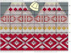Knitting Charts, Knitting Patterns Free, Knit Patterns, Knit Crochet, Crochet Hats, Diagram Chart, Fair Isle Pattern, Fair Isle Knitting, Cute Hats