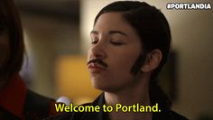 Check out all the awesome carrie brownstein gifs on WiffleGif. Including all the portlandia gifs, fred armisen gifs, and lance and nina gifs. Carrie Brownstein, Fred Armisen, Portland, Carry On, Gifs, Tv, Hand Luggage, Carry On Luggage, Television Set