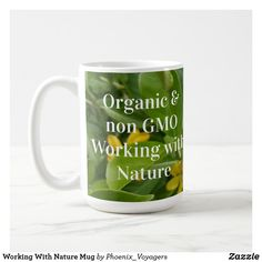 Working With Nature Mug Grow Organic, Custom Mugs, Photo Mugs, Tea Cups, Coffee Mugs, Create Yourself, Tableware, Nature, Dinnerware