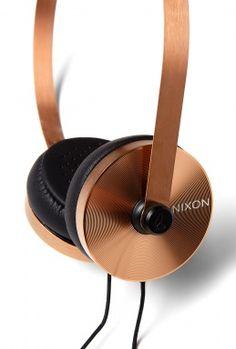 Nixon rose gold headphones