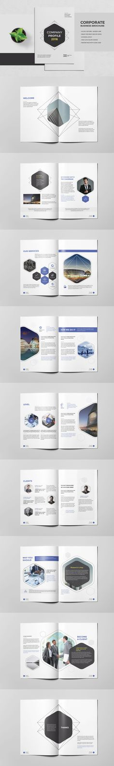 Corporate Business Brochure 20 Pages A4 Template InDesign INDD