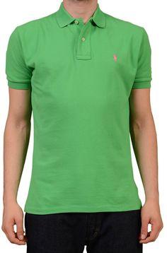 da2b58b71 POLO By RALPH LAUREN Solid Green Cotton Polo Shirt NEW Green Cotton