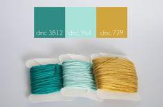DMC floss color combination, Tropical Elegance www.lovelymesses.com