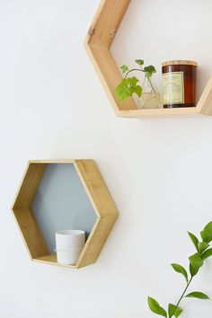 DIY honeycomb shelves | BURKATRON