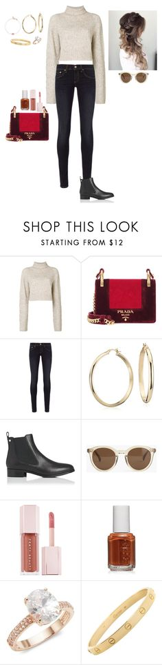 """Untitled #1414"" by lexiaf on Polyvore featuring Diesel, Prada, rag & bone, Blue Nile, L.K.Bennett, J.Crew, Puma, Essie, Saks Fifth Avenue and Cartier"
