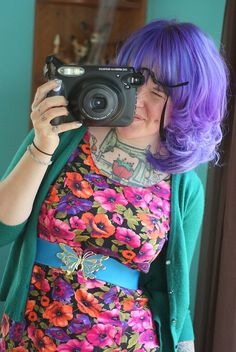 purple hair - very springy
