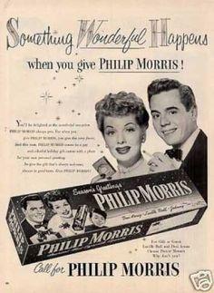 Philip Morris Cigarette Ad Lucille Ball/desi Arnaz (1952)
