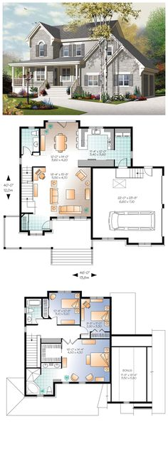 European House Plan 76322