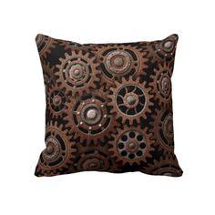 Steampunk Gears Pillow