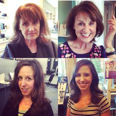 Mother daughter before and after! #salonbluechicago