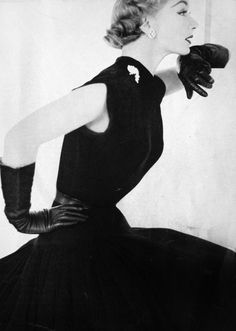 Evening glamour for Vogue US, 1951.