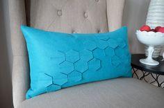 International Shipping Honeycomb Felt Pillow Cover by whitenest