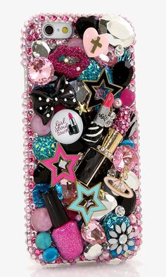 Makeup Lover iPhone bling case Design (Style 796) | We sales bling phone cases for iPhone, Samsung, LG, Black Berry, Nokia lumia, Motorola and other devices. See our designs at  http://luxaddiction.com