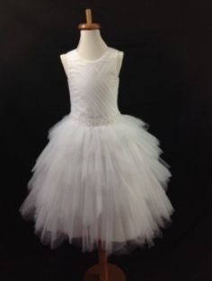 Christie Helene Communion Gown. BocelliBoutique.com Designer #ChristieHelene First #Communion Dress - Style #UF3179S