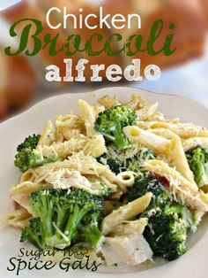 Chicken Broccoli Alfredo - (What a wonderful way to use leftover chicken! I can see this as a way to use up the leftover turkey and veggies from appetizer tray. This is going into my Thanksgiving file).