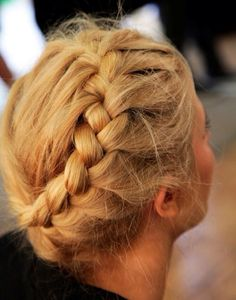 start with a french braid and then once you get the ear, only add hair from the bottom section