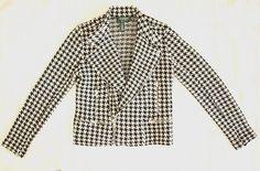 vintage ralph lauren houndstooth biker jacket
