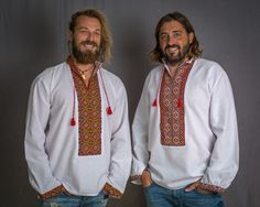 Here you can buy Romanian men's clothing and opinci shoes, men's peasant shirts and national costumes Bohemian Shirt, Bohemian Style Clothing, Bohemian Fashion, Romanian Men, Romanian Flag, Men Shirts, Peasant Blouse, Traditional Outfits, Costumes