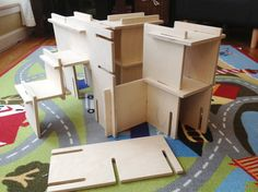 Organic Natural Wood Architect Play Set // by manzanitakids