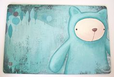 A Portrait of The Little Blue Bear by eveluche, via Flickr