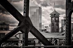 Portland Oregon Print  Skyline  Cityscape  by ThePDXPhotographer