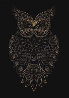 Spending my time without wasting anything. Owl Wall Art, Owl Artwork, Mandala Artwork, Owl Wallpaper, Abstract Iphone Wallpaper, Scenery Wallpaper, Bird Silhouette Tattoos, Desenhos Halloween, Graffiti Doodles