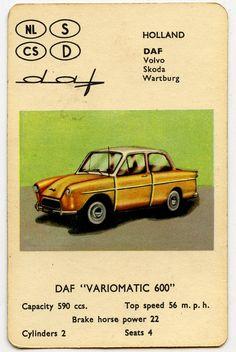 "Daf  Variomatic 600, classic ""kwartet spel"""