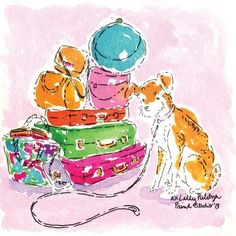 It's President's Day Weekend! Think we packed enough? Lily Pullitzer, Lilly Pulitzer Prints, Learn Art, Fabric Patch, Happy Art, Way Of Life, Pattern Art, Cute Art, Illustration Art