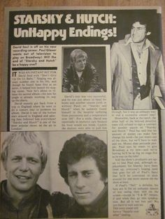 Starsky and Hutch, Paul Michael Glaser, David Soul, Full Page Vintage Clipping