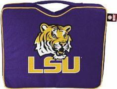 NCAA LSU Bleacher Cushion by Coleman. $15.23. Features integrated carry strap. 600D polyester material. Features primary logo and team color. Light weight seat cushion makes for easy transportation to the game. NCAA Louisiana State (LSU) Bleacher Cushion